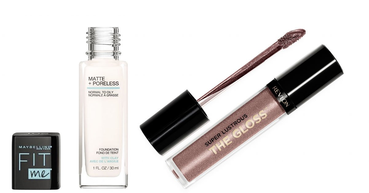 Revlon-lipgloss-Maybelline-Foundation